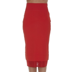 Givenchy Jersey Pencil Skirt Red