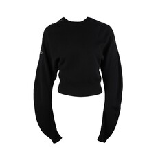 Celine Cropped Cashmere Sweater Black