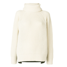Sacai Removable Turtleneck Collar Sweater White,Black