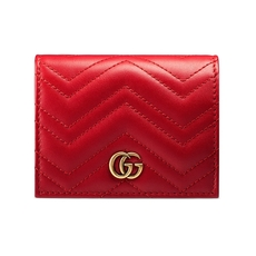 Gucci Gg Marmont Card Case Red