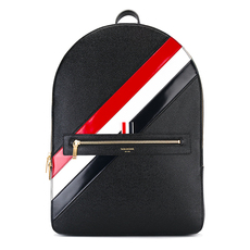 Thom Browne Diagonal Stripe Backpack Black