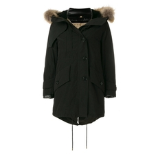 Burberry Hooded Parka Black