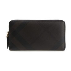 Burberry Zip Around Wallet Chocolate Black