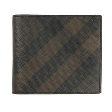 Burberry Bi-Fold Wallet Chocolate Black