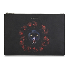 Givenchy Large Iconic Print Clutch Bag Black