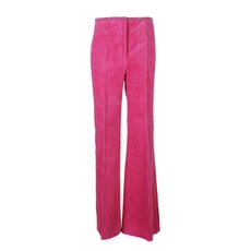 Celine Long Flare Trousers In Fuchsia Cotton