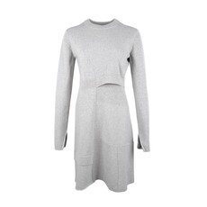 Proenza Schouler Patchwork Knit Dress Grey