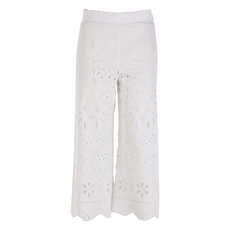 Red Valentino Embroidered Pants White