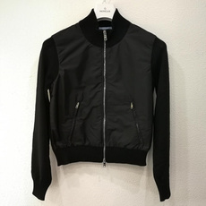 Prada Nylon Front Zip Jacket Black