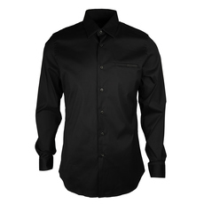 Prada Pocket On Chest Stretch Shirt Nero