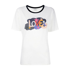 Saint Laurent Love Print T-Shirt White