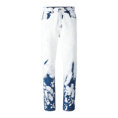 Gucci Paint Stains Ripped Detail Jeans Blue