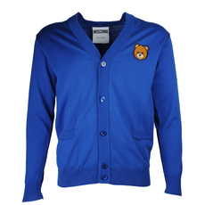 Moschino Two Pockets Cardigan Blue