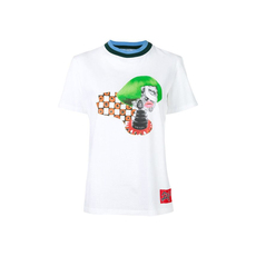 Prada Graphic Print T-Shirt White