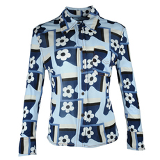 Prada Flower Fantasy Shirt Blue