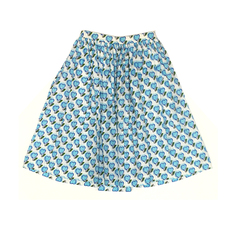 Prada Heart Print Skirt White,Blue
