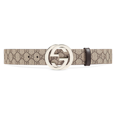 Gucci GG Supreme G Buckle Belt Beige/Ebony