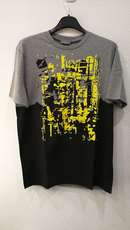 Dior Homme Geometric Print T-Shirt Grey/Black