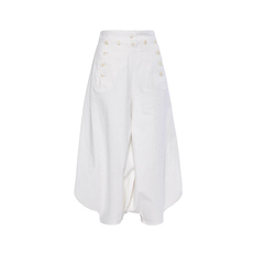 Chloe High Waist Sarouel Pants White