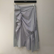 J.W.Anderson Stripe And Ruffle Skirt Multistripe