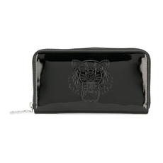 Kenzo Patent Tiger Zip Around Wallet Black
