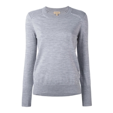 Burberry Ribbed Detail Jumper Grey