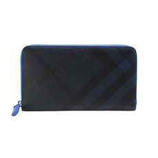Burberry Zip Around Wallet Blue