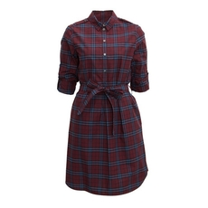 Burberry Check Cotton Tunic Dress Red