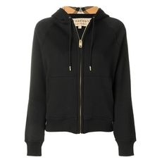 Burberry Hooded Zipped Cardigan Black