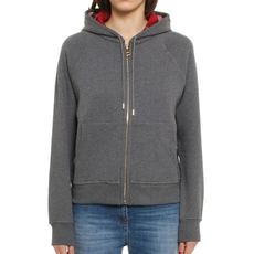 Burberry Hooded Zipped Cardigan Grey