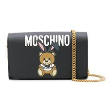 Moschino Teddy Playboy Wallet On Chain Black