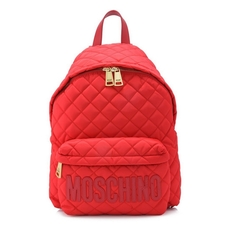 Moschino Large Fabric Backpack Red