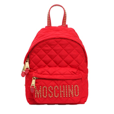 Moschino Quilted Mini Backpack Red