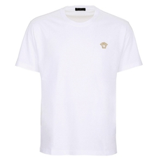 Versace Medusa Embroidered T-Shirt White
