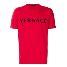 Versace Printed Logo T-Shirt Red