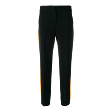 Msgm Striped Slim Pants Black