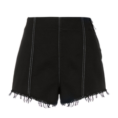 Msgm Side Zipper High-Waisted Shorts Black