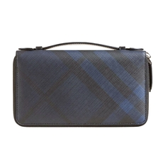 Burberry London Check Travel Wallet Navy Black