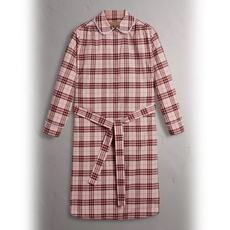 Burberry Lace Trim Collar Check Cotton Shirt Dress Pink