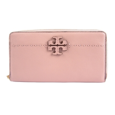 Tory Burch Mcgraw Zip Continental Wallet Pink