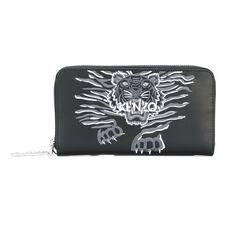 Kenzo Tiger Zip Around Wallet Black