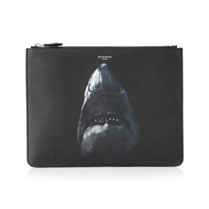 Givenchy Shark Printed Large Pouch Black