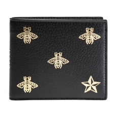 Gucci Patterned Bi-Fold Wallet Black