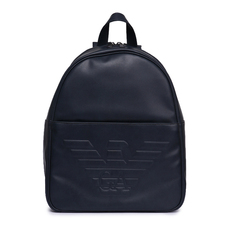 Emporio Armani Logo Embossed Backpack Blue