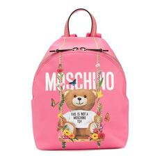 Moschino Teddy Floral Swing Backpack Pink