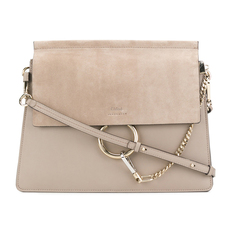 Chloe Medium Faye Shoulder Bag Motty Grey