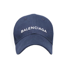 Balenciaga Classic Baseball Cap With Balenciaga Embroidered Logo Blue