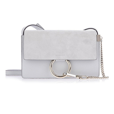 Chloé Faye Small Shoulder Bag Grey