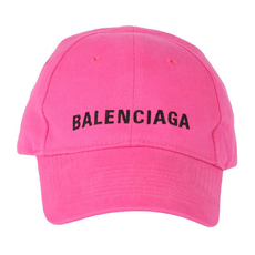 Balenciaga Classic Baseball Cap With Balenciaga Embroidered Logo Pink