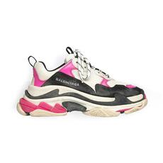 Balenciaga Triple S Trainers(10 Mm Arch) Oversized Multimaterial Sneakers Pink